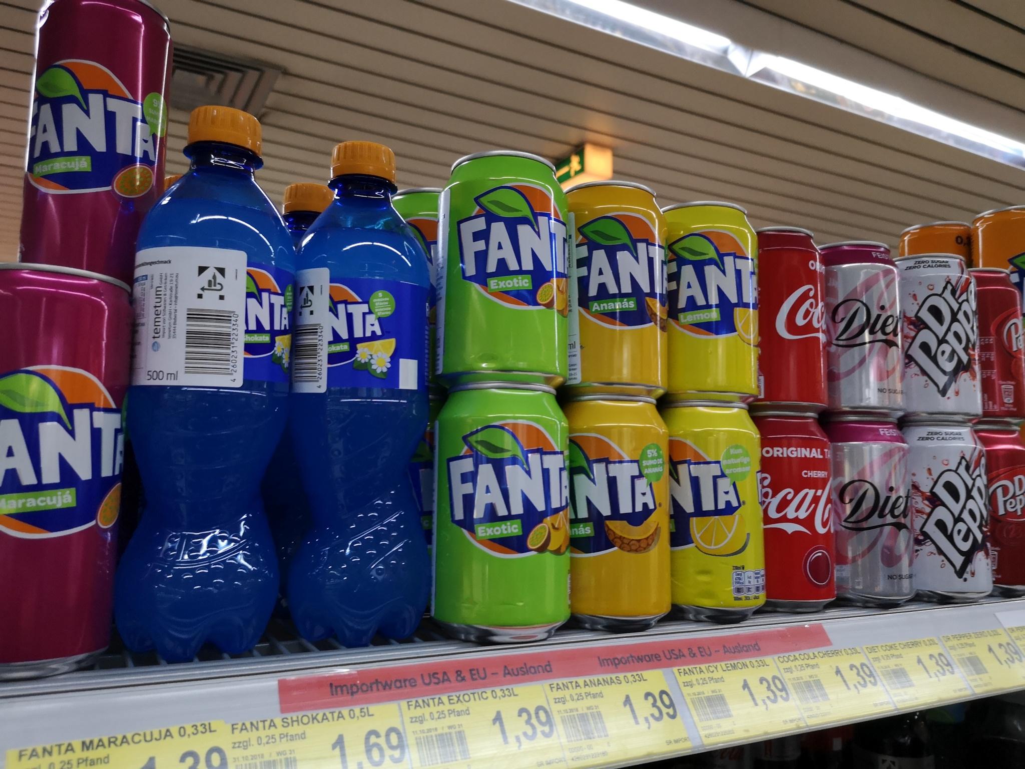 Urlaubsfeeling im Getränkeregal… Import – Softdrinks bei EDEKA Struwe